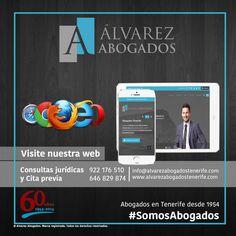 Conozca nuestra web, más información, más fluida, más interactiva, ahora toda la información sobre nuestros servicios y especialidades disponible visitando http://alvarezabogadostenerife.com #SomosAbogados #AlvarezAbogados