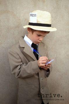 newspaper reporter costume ideas - press pass
