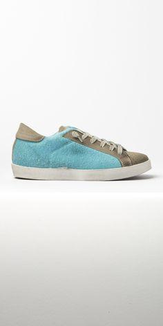 Sneaker Low Spugna Turchese/Ghiaccio