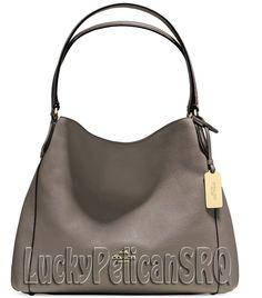 coach satchel bag outlet k4o6  Coach 36464 edie 31 shoulder bag handbag gold/frog grey nwt