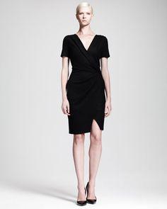 Sonar Wool Draped Crossover Dress by Helmut Lang at Bergdorf Goodman.