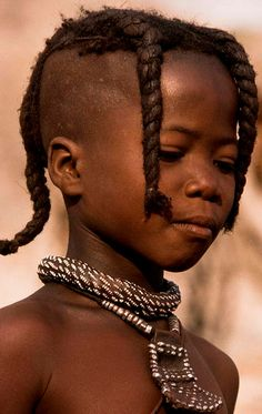 Africa | Himba child. Namibia. | ©Georges Courreges