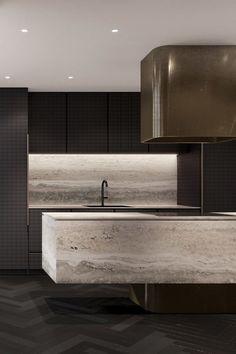 44 Inspiring Design Ideas for Modern Kitchen Cabinets - The Trending House Interior Design Kitchen, Modern Interior Design, Interior Architecture, Interior Livingroom, Apartment Interior, Diy Kitchen Cabinets, Kitchen Ideas, Kitchen Decor, Kitchen Trends