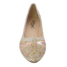 Womens Pointed Toe Ballet Flats Rhinestone GOLD WOMEN * Check this awesome product by going to the link at the image.