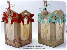 Évasions Créatives Stampin Up, Dandelion Wish, Fall Season, Home Deco, Tea Lights, Gift Wrapping, Seasons, Christmas Ornaments, Holiday Decor