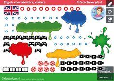 Colors, Engels leren aan kleuters, heel veel liedjes, spellen, verhalen en filmpjes over de kleuren kleuteridee