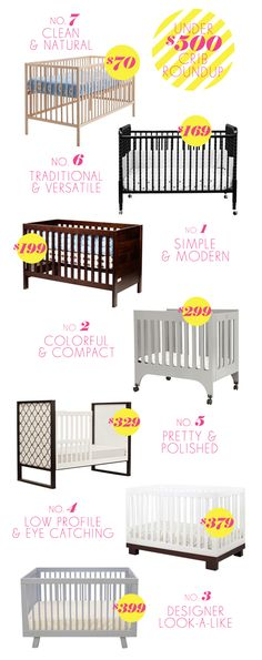 Cribs under 500 bucks: Crib roundup