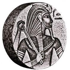 2016 Republic of Chad 5 oz Silver King Tutankhamun the Egyptian Relic Series