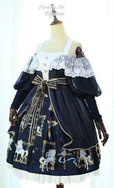 ThinkFly -Pegasus- Lolita Gigot Sleeves OP Dress