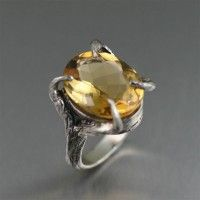 13 ct Cushion Cut #Citrine Sterling Silver #Cocktail #Ring. Sheer style   http://www.johnsbrana.com/13-ct-cushion-cut-citrine-sterling-silver-cocktail-ring.html  $465.00