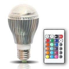 BrightChoice Kuler Bulb - 10-Watt Color Changing LED Light Bulb with Remote Control - Powered by 3 Vibrant LED's and 10 Watts of Power, its the Brightest Multi Color LED Bulb and Mood Light. - Amazon.com