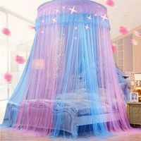 Buy 2019 New Elegant Lace Bed Canopy Mosquito Net Dome Hanging Lace Insect Net Encryption Heightening Ceiling Princess Dome Court at Wish - Shopping Made Fun Cute Bedroom Ideas, Cute Room Decor, Girl Bedroom Designs, Room Ideas Bedroom, Design Bedroom, Nursery Ideas, Princess Canopy Bed, Princess Bedrooms, Princess Beds