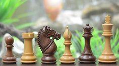 "4"" Wooden Weighted Staunton Chess Set Pieces Shesham Wood FREE P&P M0050 chess"