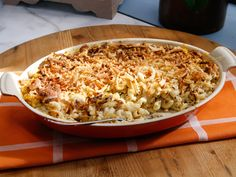 Truffled Mushroom and Cheesy Macaroni Casserole recipe from Geoffrey Zakarian via Food Network