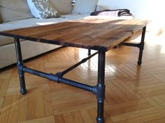 Customizable Rustic Industrial Coffee Table. Love, love, love.