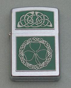 Celtic Shamrock Zippo Lighter