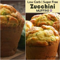 This is the recipe for Sugar Free Homemade Zucchini Muffins. There also recipe options to make these gluten free or even low carb as well. Sugar Free Zucchini Muffins, Gluten Free Muffins, Sugar Free Jello, Sugar Free Recipes, Flour Recipes, Low Carb Flour, Low Carb Bread, Low Carb Flatbread, Low Carb Noodles