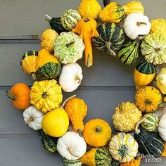 Decorating Ideas Using Pumpkins After Halloween | Using the same tools you typically put to work carving toothy grins, you can magically transform gourds into flower vases, wreaths, candle holders, even a keg.