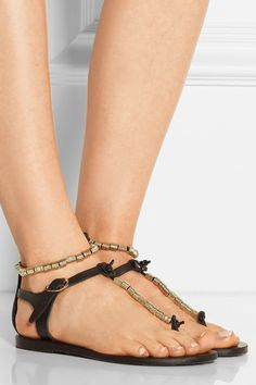 347776ad6 Ancient Greek Sandals - Chrysso beaded leather sandals