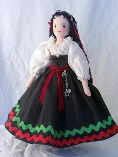 tender arts studio: Edith Flack Ackley Doll: Rosalie, a gypsy