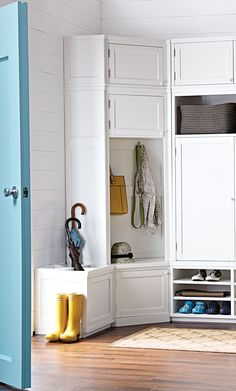 Welcome home! Organize your family's gear with entryway storage solutions from Martha and @homedecorators.