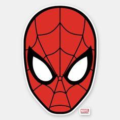 Shop Spider-Man Head Icon Sticker created by spidermanclassics. Spiderman Tattoo, Spiderman Drawing, Spiderman Face, Spiderman Spider, Amazing Spiderman, Tumblr Stickers, Diy Stickers, Sticker Ideas, Fête Spider Man