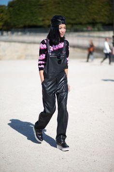 Moschino sweater and Stella McCartney shoes   - HarpersBAZAAR.com