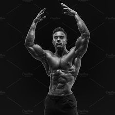 Perfect physique sportsman by Usmanov Stock Photography on @creativemarket