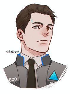 Detroit become human Connor By: k-axani.tumblr.com