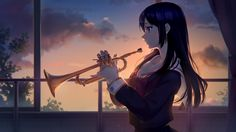 Kousaka Reina Hibike Euphonium (Reina Kousaka) Wallpaper, HD Anime Wallpapers, Images, Photos and Background Reina Kousaka, Manga Anime, Anime Art, Kyoto Animation, Trumpets, The Masterpiece, Comic Character, Fire Emblem, Dark Hair