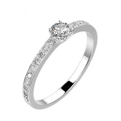 Bague Alice - Or blanc 18 cts, Diamants 1