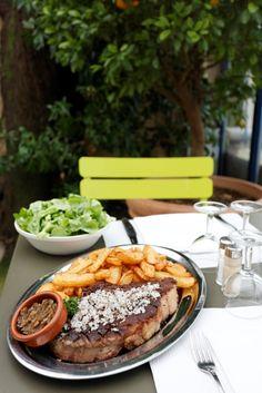 Gourmet food at Cafe de l'Esperance - Le Saint James, Bordeaux France
