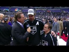 J.R. interviews Anze Kopitar and Chris Sutter after the Kings won the Stanley Cup.  June 13, 2014