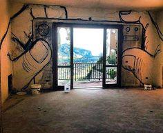 graffiti foto maken met uitzicht