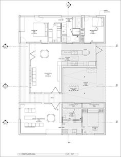 this contemporary house floor plan shows that there are two separate units divided by a breezeway - Texas House Plans With Breezeway