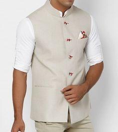 nehru jacket beige - Google Search Long Kurta Designs, Engagement Suits, Wedding Dress Men, Wedding Outfits, Indian Groom Wear, Ethenic Wear, Nehru Jackets, Family Outfits, Sharp Dressed Man