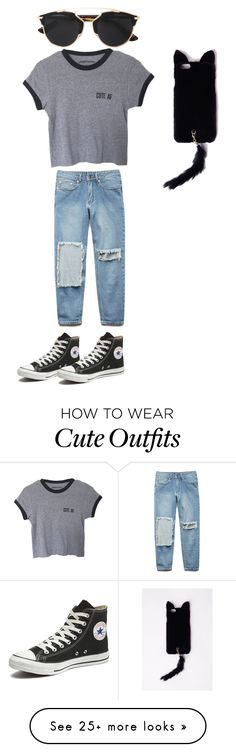 """""""New outfits #1"""" by got7-bts-seventeen-exo18 on Polyvore featuring Forever 21, Converse, Christian Dior, Missguided, women's clothing, women's fashion, women, female, woman and misses"""