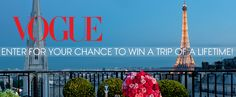 Vogue is organizing the Paris Couture Sweepstakes 2013 and is giving away the chance to win a trip for two to France, a Barbara Bui handbag, and a set of Aurelie Bidermann earrings!