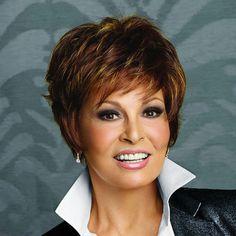 Memphis Luxury Raquel Welch Urban Collection by Ellen Wille. Striking cut with elegant layers. Versatile, easy to manage, and ready to go.  Superb comfort, made of high quality synthetic hair with a mono top and lace front.