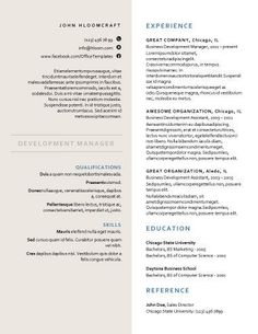 creative formal free resume template by hloomcom