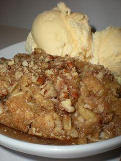 Zucchini Crisp!!!! Tastes just like apple crisp. I am so making this...