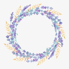wreath, Lavender, Flower PNG Image