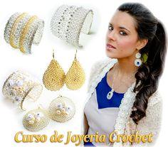 Curso de Joyería Crochet: Cómo crear tus by WireHandmadeJewelry. to look up on YouTube. $25.00 tutorial download from etsy.