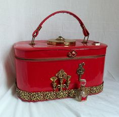 Retro Red Purse Makeup case couture carryall by HopscotchCouture, $307.00