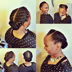 2 goddess braids to the side - Google Search