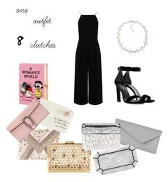 """One outfit, 8 clutches"" by emiliam12 ❤ liked on Polyvore featuring LULUS, Olympia Le-Tan, L.K.Bennett, Edie Parker, Chanel, Moschino, Gucci, Warehouse, Yves Saint Laurent and Carolee  Diese und weitere Taschen auf www.designertaschen-shops.de entdecken"