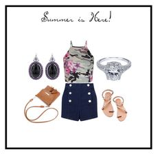 """""""Summer is Here!"""" by idjewerly ❤ liked on Polyvore featuring Miss Selfridge, New Look and Elina Linardaki"""