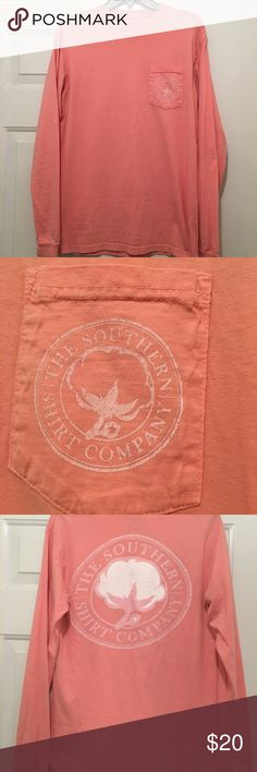 The Southern Shirt Company LS Tee The Southern Shirt Company LS Tee - Sig Logo - Like New - Size S - Front Pocket - 100% Preshrunk Cotton with Signature Wash for that soft broken in feel. The Southern Shirt Company Tops Tees - Long Sleeve