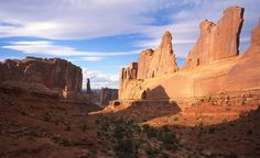 One of the main draws of Arches National Park is watching the sun play off the natural sandstone formations.  (National Park Service Photo) From: Your Picks for 15 Places Every Kid Should See.