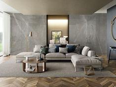 XLAB PULPIS 120x280 - LASTRA IN GRES EFFETTO MARMO - Iperceramica Interior Photography, Corner Sofa, Decoration, Couch, Living Room, Inspiration, Furniture, Home Decor, Kitchen